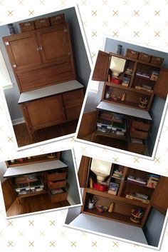 Repurpose a vintage hutch