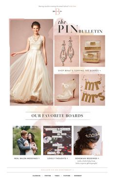"""The Pin Bulletin"" from BHLDN."