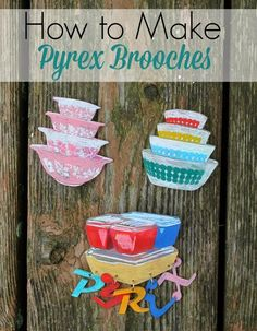 How to make vintage #Pyrex shrinky dink brooches! I want try this.