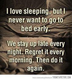 Sleep logic is strange....