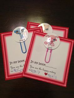 Littlest Pet Shop DIY Valentines Day card with a book marker!