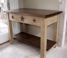 Primitive DIY little table/ stand