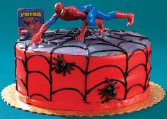 Wren wants a Spiderman cake for her birthday - I might be able to pull this one off.