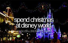 Maybe next year disney christmas, christmas time, bucketlist, oneday, buckets, dream, place, new years, bucket lists
