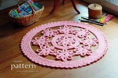 Flower Rug by Zoom Yummy | Crochet Pattern - via @Craftsy