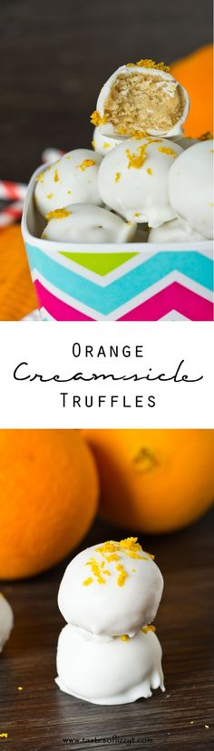 These Orange Creamsicle Truffles are the grown-up version of your favorite summer popsicle. With classic orange flavor coated in white chocolate, you won't be able to eat just one of these no-bake treats.
