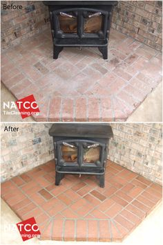 Cleaning Brick Fireplaces On Pinterest Cleaning Ceramic Tiles Sliding Door Blinds And Small