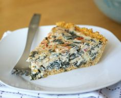 millet crust - vegan spinach and veggie quiche - and yes I know that spinach is a veggie, but it's so lovely in a quiche...