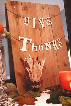 "It's the little things that make a house a home...: Our ""Give Thanks"" Mantel & The Thankful Garland..."