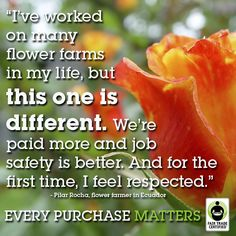This is what Fair Trade is all about.