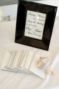 Guest book time capsule sign idea
