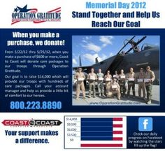 Great Ideas...A Few More Ways to Support the Troops!