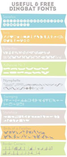 Useful Dingbat Fonts