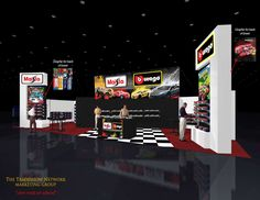 Great use of color & graphics -- hard to believe it's a rental booth!