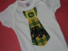 Baby John Deere Tie Onesie