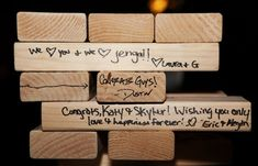 Signed Jenga - or couple's favorite game pieces