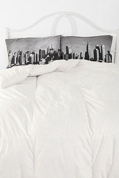 New York City skyline pillows