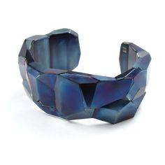 David Choi | Steel Faceted Cuff - Sienna Gallery - size medium - 700$
