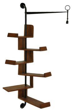 TRIP HAENISCH'S PICK - French Design Mid-Century Modern Bookshelf with Lamp - $8500.