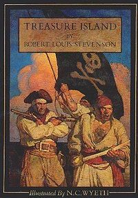 """'If you do not put that knife this instant in your pocket, I promise, upon my honour, you shall hang at next assizes.' Then followed a battle of looks between them; but the captain soon knuckled under, put up his weapon, and resumed his seat, grumbling like a beaten dog."" -Treasure Island, Robert Louis Stevenson"