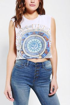 Truly Madly Deeply Mystical Circle Cropped Muscle Tee #urbanoutfitters