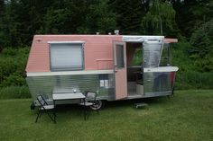 ~ Retro Pink and Silver Trailer ~
