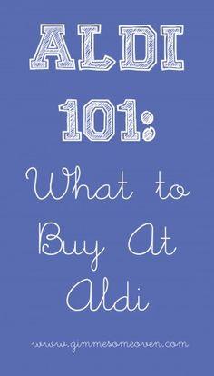 Blog about Aldi Shopping. Love saving $$$!