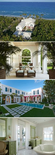 Estate in Palm Beach With an Underground Passage to the Ocean! >> http://coolhouses.frontdoor.com/2013/01/28/winter-escape-oceanside-estate-in-palm-beach/?soc=pinterest
