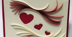 Open Quilling under and over the hearts - by: Paper Marks Quilling FB