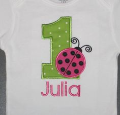 Personalized Ladybug Birthday Shirt or by MakeItPersonalMonogm, $20.00