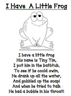 frog stuff and poem
