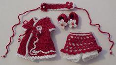 Free Crochet Baby Dress Patterns | CLOTHES CROCHET DOLL KELLY PATTERN - Crochet — Learn How to Crochet dress patterns, doll clothes patterns, doll patterns, crochet doll, brows pattern, crochet patterns