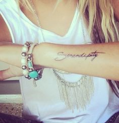 Finding something valuable that makes you happy without searching for it ... Good fortune #luck #serendipity #tattoo #discoveries
