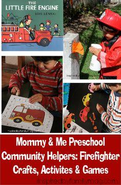 Preschool Homeschool: Firemen Activities & Crafts