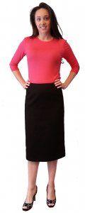 Cotton Pique Pencil Skirt - $39.00 :: DCM Apparel - Modern Modest Clothing