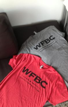 NEW! WFBC shirts! Check them out. On sale now.