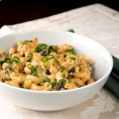 Macaroni and Cheese with Black Beans and Chipotle