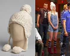 Free People Ivory Speckled Pompom Trapper Hat - $29.00  Worn with: Forever 21 romper, Steve Madden booties  Also worn in: 4x02 'Britney 2.0' with Wildfox muscle tee, Steve Madden sneakers