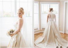 Elegant Wedding Dress and Veil