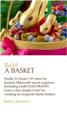 Build a Better Easter Basket with Lindt GOLD BUNNY & friends!