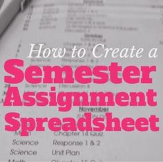 THIS IS SO SMART! must do this in college.