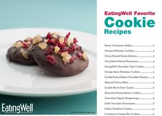 A free downloadable cookbook of EatingWell Favorite Cookie Recipes available here: http://www.eatingwell.com/free_downloads/healthy_cookie_recipes