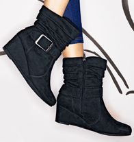 Buckle Wedge Boot  FREE Shipping on Online Orders $30+ www.YourAvon.com/BeYourOwnBeauty