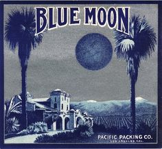 Los Angeles San Fernando Blue Moon Orange Citrus Fruit Crate Box Label Art Print. $9.99, via Etsy. fruit crate, crate art, crate label, art prints, moon orang, beer labels, blue moon, label art, blues