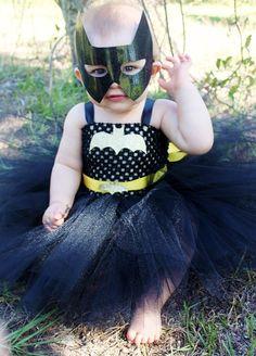The Batgirl Tutu Dress & Mask Halloween Costume by KutieTuties,