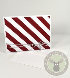 Candy Cane Stripes Card...as seen in @Paper Crafts & Scrapbooking Magazine Card Creations Volume 10!!! My first published card!