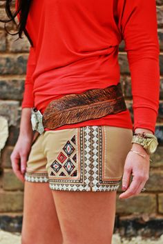 Wild Bleu l The Knox Custom leather feather belt