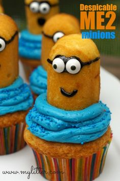 Minion Cupcakes from Twinkies – Despicable Me