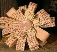 Tutorial: How to make a Book Page Flower