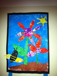 carl inspir, art idea, art lesson, kid art, gardens, elementari art, art room, fun display, eric carle